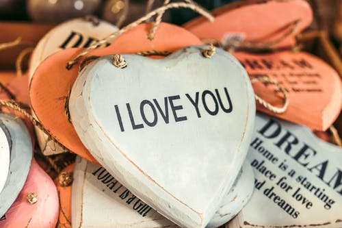 corações decorativos i love you